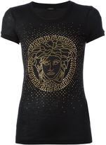 Versace Medusa studded T-shirt - women - Silk/Viscose - 40