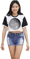 Me Women's Moon Phase Crop T-shirt