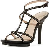 Pelle Moda Randal Crystal Platform Sandal