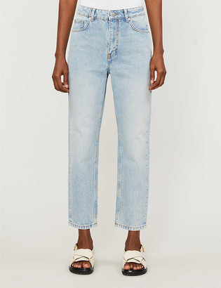 Maje Pario straight-leg high-rise jeans