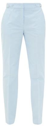 Gabriela Hearst Isabel Cotton-corduroy Slim-leg Trousers - Light Blue