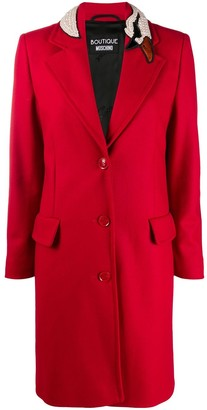 Boutique Moschino Single-Breasted Wool Coat