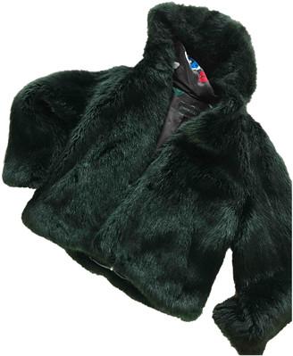 Oakwood Green Faux fur Coats