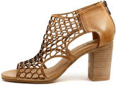 Django & Juliette Viable Nude crackle Sandals Womens Shoes Dress Heeled Sandals