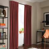 Kenneth Cole Reaction Home Soho Velvet 108-Inch Lined Window Curtain Panel in Garnet