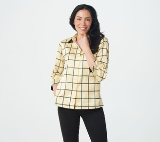 Linea by Louis Dell'Olio Windowpane Faux Shantung Jacket