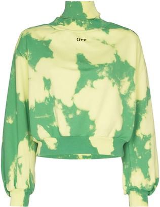 Off-White high-neck cloud print sweatshirt