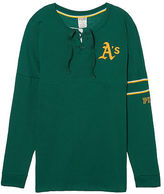 PINK Oakland Athletics Bling Lace-up Varsity Crew