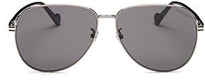 Moncler Men's Brow Bar Aviator Sunglasses, 63mm