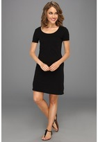 Three Dots Slub Jersey T-Shirt Dress (Black) - Apparel