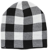 Plush Plaid Beanie