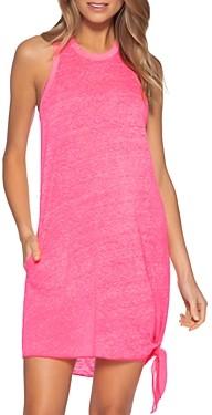 Becca by Rebecca Virtue Becca? by Rebecca Virtue Beach Date Knot Hem Cover-Up Dress