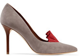 Malone Souliers + Adam Lippes Brenda ruffle-trimmed suede and leather pumps