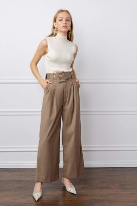 J.ING Tia Tan Belted Wide Leg Pants