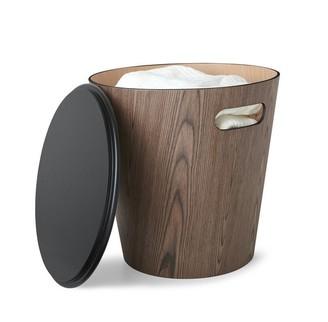 Umbra Woodrow Storage Stool - Walnut