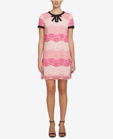 CeCe Brandy Lace Bow-Trim Shift Dress