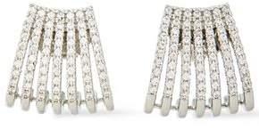 Kenneth Jay Lane Cz By Silver-tone Crystal Earrings
