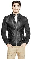 G by Guess GByGUESS Men's Alpha Faux-Leather Jacket