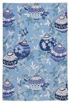 Pier 1 Imports Ming Lanterns Blue 8x10 Rug
