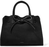 Mansur Gavriel Sun Leather-trimmed Suede Tote - Black