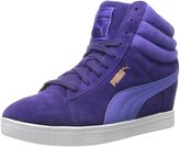 Puma PC Wedge WW Womens US Size 6 Purple Suede Sneakers Shoes