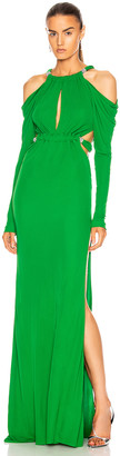 Dundas Cutout Long Sleeve Dress in Emerald | FWRD