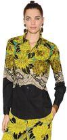 Etro Floral Print Stretch Cotton Poplin Shirt