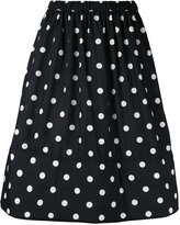 Comme des Garcons polka dots A-line skirt - women - Polyester - M