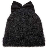 Federica Moretti Bow-Embellished Lurex Wool Beanie