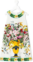 Dolce & Gabbana floral print sleeveless dress - kids - Cotton/Spandex/Elastane - 6 yrs