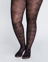 Lane Bryant Floral lace control top tights