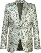 Alexander McQueen blazer jacket - men - Silk/Polyester/Viscose - 52
