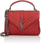 Saint Laurent Women's Monogram College Medium Shoulder Bag-RED