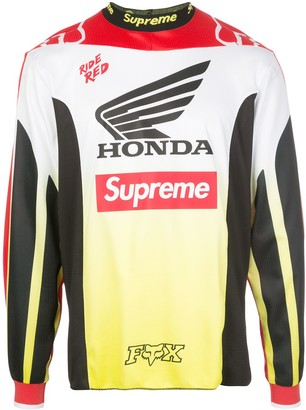 Supreme x Honda x Fox Racing Moto jersey T-shirt