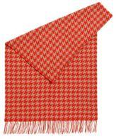 HUGO BOSS Houndstooth scarf in virgin wool