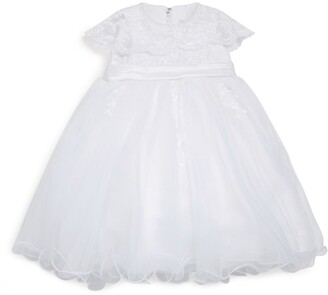 Sarah Louise Lace Frill Occasion Dress (3-18 months)