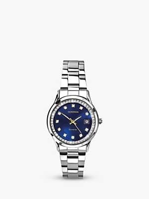Sekonda Women's Mother Of Pearl Crystal Bracelet Strap Watch, Silver