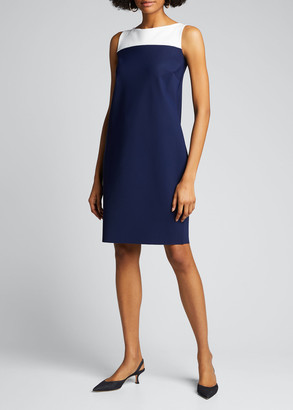 Chiara Boni Colorblock Sleeveless Sheath Dress