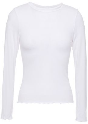 Enza Costa Ribbed Jersey Top