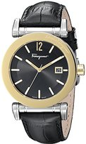 Salvatore Ferragamo Men's FP1930014 Salvatore Analog Display Quartz Black Watch