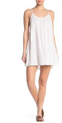 BOHO ME Lace Trim Mini Dress