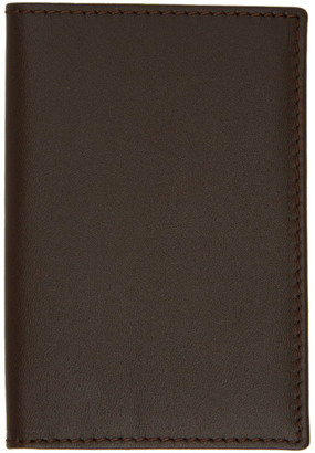 Comme des Garçons Wallets Brown Classic Foldover Bifold Card Holder