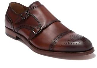 Antonio Maurizi Leather Cap Toe Double Monk Strap Shoe