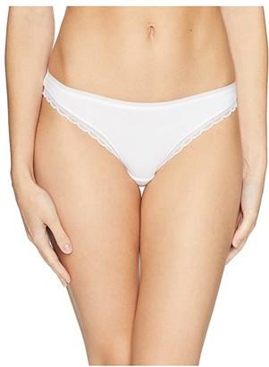 OnGossamer Cabana Cotton Hip Bikini G1161 (White) Women's Underwear