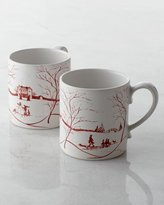 Juliska Two Country Estate Winter Frolic Mugs