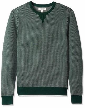 Goodthreads Men's Merino Wool Crewneck Birdseye Sweater