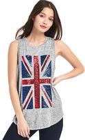 Gap Softspun knit sequin flag tank