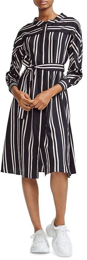 Maje Raji Striped Shirt Dress