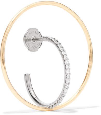 Charlotte Chesnais Saturn 18-karat Gold Diamond Hoop Earring