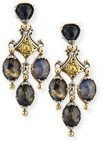 Konstantino 18K Gold & Sterling Silver Spectrolite Chandelier Earrings